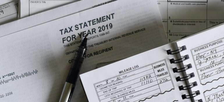 Tax forms which need to be filled before moving you business to another state.