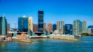 skyline of new jersey business district